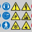 Work safety signs — Stock Vector #63890925