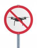 Drone prohibited — Stock Vector