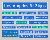 Los Angeles Street Signs — Stock Vector
