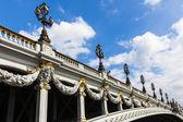 """Alexander III bridge in Paris """" Pont Alexandre III """" - France — Stock Photo"""
