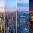 Montage of Manhattan skyline night to day - New york - USA — Stock Photo #53850073
