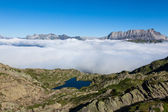 Lac Brevent - Brevent lake in Chamonix Mont-Blanc - France — Stock Photo