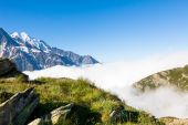 A beautiful view of the Mont Blanc in Chamonix in France   — Stock Photo