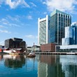 Modern buildings in The financial district waterfront in Boston  — Stock Photo #58459169