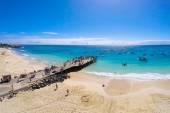 Aerial view of Santa Maria beach in Sal Cape Verde - Cabo Verde — Stock Photo