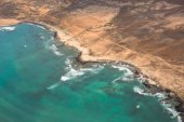 Aerial view of Santa Maria in Sal Island Cape Verde - Cabo Verde — Stock Photo