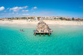 Aerial view of Santa Maria beach in Sal Cape Verde - Cabo Verde — Stock Photo