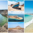 Picture montage of Sal island landscapes  in Cape Verde archipel — Stock Photo #64004419