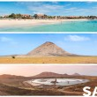 Picture montage of Sal island landscapes  in Cape Verde archipel — Stock Photo #64004505