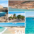 Picture montage of Sal island landscapes  in Cape Verde archipel — Stock Photo #64004553
