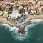 Aerial view of Estoril coastline near Lisbon — Stock Photo #72087495