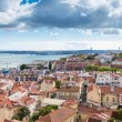 Постер, плакат: Lisbon rooftop from Sao Vicente de Fora church viewpoint