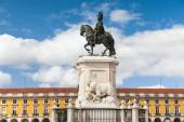 King Jose statue at Commerce square - Praca do commercio — Stock Photo
