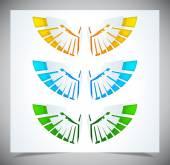 Paper wings — Stock Vector