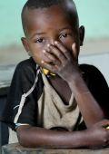 Portrait of the African schoolboy.  — Foto de Stock