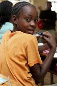 Portrait of the African schoolgirl.  — Foto de Stock