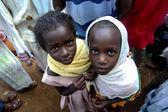 Portrait of the two ethiopian girls. — Stock Photo