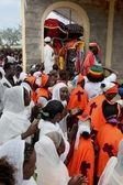 在埃塞俄比亚东正教基督教教会庆祝. — 图库照片