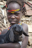 Portrait of the African boy. — Stock Photo