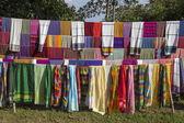 Ethiopian scarfs and textiles — Stock Photo