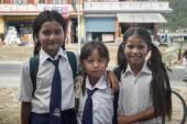 Nepalese schoolgirl — Stock Photo