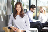 Business woman with team — Foto de Stock