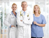 Doctors and nurse in clinic — Foto de Stock