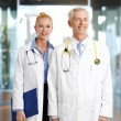 Two doctors with stethoscope — Stock Photo #71691537