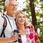 Senior people enjoying a walk together. — Stock Photo #78886348