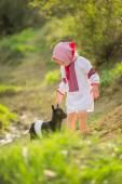Girl in national costume — Stock Photo