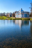 Blue classical architecture of baroque in Tsarskoye Selo — Stock fotografie