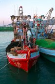 Fishing boat in the port — 图库照片