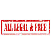 All Legal & Free-stamp — Stock Vector