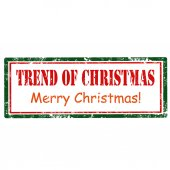 Trend Of Christmas-stamp — Stock Vector