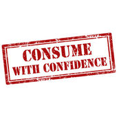 Consume With Confidence-stamp — Stock Vector