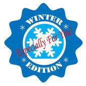 Winter Edition-label — Wektor stockowy