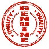 Genuine-stamp — Stock Vector