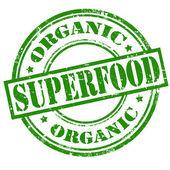 Superfood-selo orgânico — Vetor de Stock