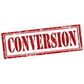Conversion-stamp — Stock Vector