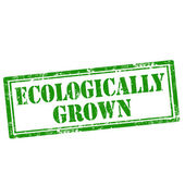 Ecologically Grown-stamp — Stock Vector