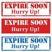Expire Soon-stamps — Stock Vector