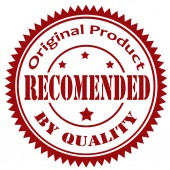 Recommended By Quality-stamp — Stock Vector