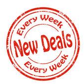 New Deals-stamp — Stock Vector
