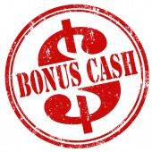 Bonus Cash-stamp — Stockvektor