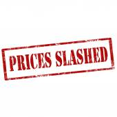 Prices Slashed-stamp — Stock Vector