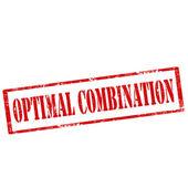Optimal Combination-stamp — Stock Vector