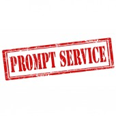 Prompt Service-stamp — Stock Vector