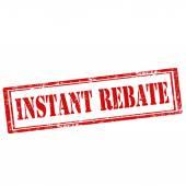 Instant Rebate-stamp — Stock Vector