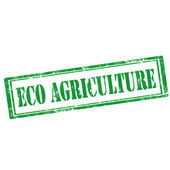 Eco Agriculture-stamp — Stock Vector
