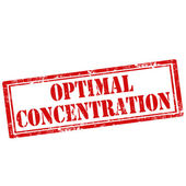 Optimal Concentration-stamp — Stock Vector